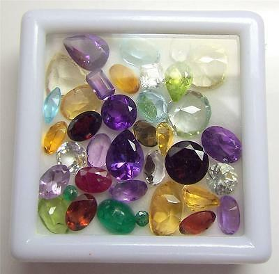 25+ Carats Of Mixed Loose Faceted Semi-Precious Gemstones For Jewelry (Lot2-1)