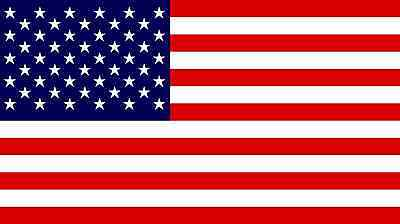 "American Flag Patriotic USA U.S. Vinyl Bumper Sticker Decal 3"" x 5"" - Set of Two"