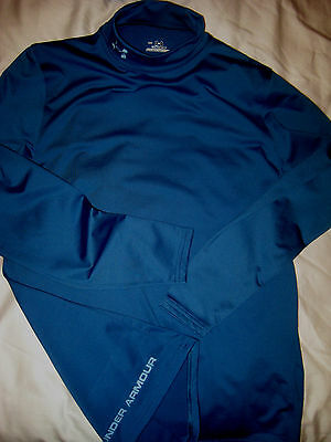Under Armour Cold Gear Wicking Compression Mock Collar Athletic Shirt-Nwot- M