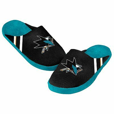 San Jose Sharks Jersey Mesh SLIDE SLIPPERS New - FREE USA SHIPPING - NHL