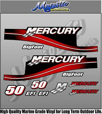 MERCURY 50hp - BIGFOOT - DECAL KIT - OUTBOARD DECALS