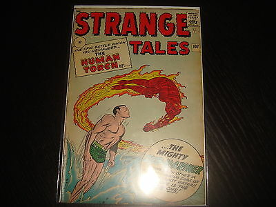 STRANGE TALES #107 Human Torch  Silver Age  Marvel Comics 1963 VG