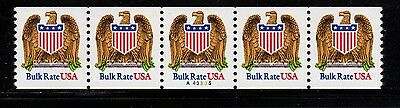 #2602 Eagle & Shield PNC5  Pl #A43335 - MNH