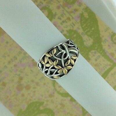 Sterling Silver with 18K accents Celtic Tree of Life Ring KEITH JACK 6 or 7