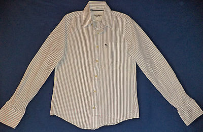 Abercrombie & Fitch L/s Multi-Colored Striped Button Front Shirt   S      K#8086