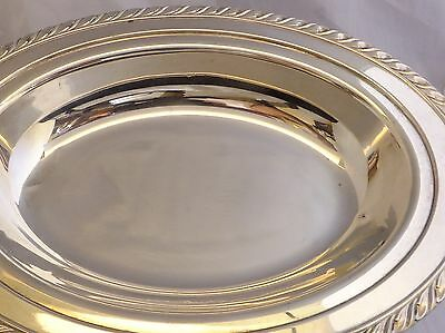 "10"" Oblong Decorative Edge Serving Tray, Silverplated"