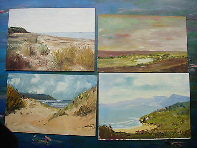 Set Of 4 Oil Paintings
