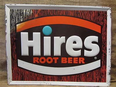 Vintage Hires Root Beer w Real Root Juices Sign > Antique Signs Soda Cola 9136
