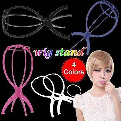Wig Display Stand Mannequin Dummy Head Hat Cap Hair Holder Folding Stable Tool