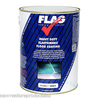 Heavy Duty Anti Slip (Elastomeric) Floor Paint 5 litres 20 litres - UV Resistant
