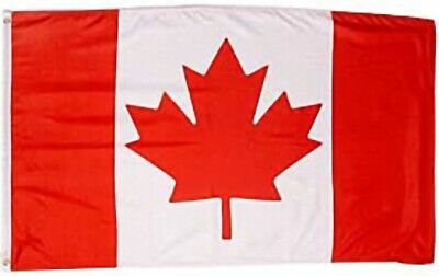 Huge Giant 5 foot x 8 foot High Quality Polyester Canadian Flag - Free Shipping