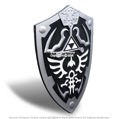 Black Dark Master Legend of Zelda Foam Shield with Strap Link Hylian LARP Anime