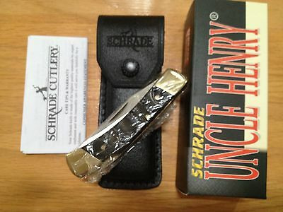 Schrade Uncle Henry Smokey Lb5 Genuine Buffalo Horn Knife Leather Sheath 5Ot