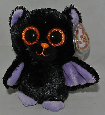 "TY Beanie BOOS - ""SWOOPS"" Halloween Bat  6"" ~ Very Rare & RETIRED! Glitter EYES"
