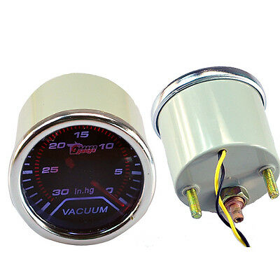 "Car Motor Smoke Len 2"" 52mm Indicator Vacuum Gauge Meter Kit In.Hg W8"