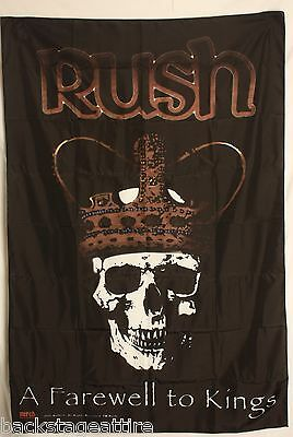 RUSH FAREWELL TO KINGS GEDDY LEE Cloth Fabric Poster Flag Textile Tapestry-New!!