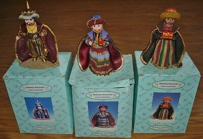 (3) Madame Alexander Classic Collectibles Nativity Wisemen Figurines w/Boxes