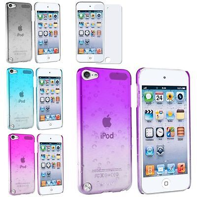 3D Clear Rain Drop Crystal Hard Case+Anti Glare Protector For ipod touch 5 6 6th