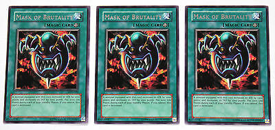 YuGiOh! Yu-Gi-Oh! Mask of Brutality x3 Playset LON-020 Labyrinth of Nightmare NM