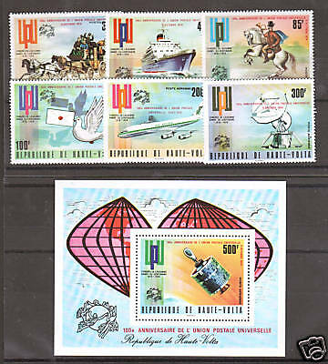 Burkina Faso Sc 339/C199 MNH. 1974 UPU issue, complete set, SPACE