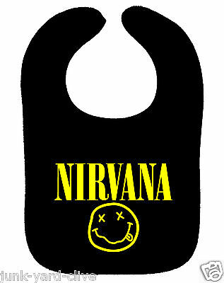 Nirvana Bib Rock Metal Music Band Bib Foo Fighters Asst Colours New Baby Bib
