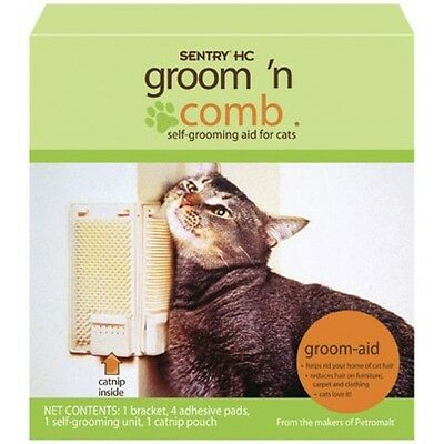 Sentry Groom N Comb Catnip CAT Self Groomer Kitty Korner Komber Grooming Brush