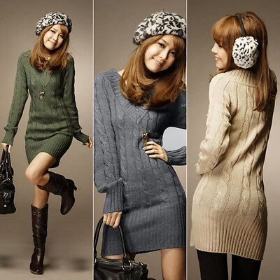 Women Casual V Neck Long Sleeve Knitted Sweater Loose Knitwear Pullover