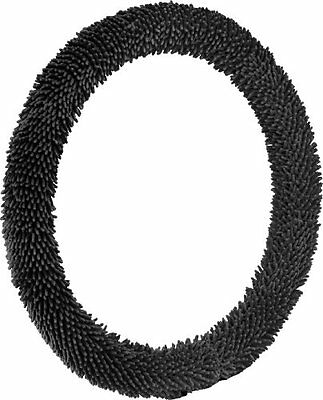 NEW Bell Automotive 22-1-53302-1 Black Shaggy Steering Wheel Cover