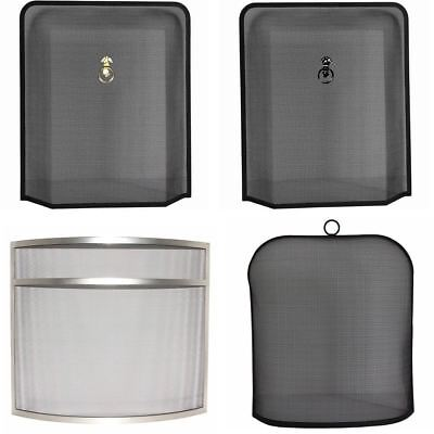 Fire Guards Freestanding Guard Fireside Sparkguard Screen New By Home Discount