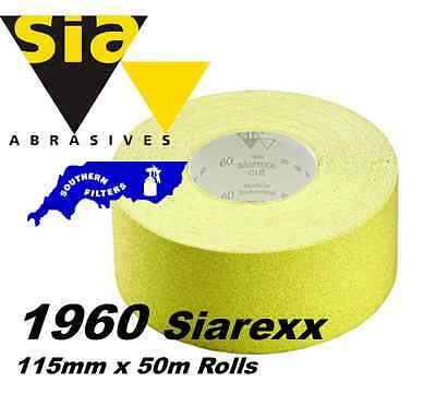 115mm x 50metre ROLL SIA 1960 HEAVY DUTY QUALITY SIAREXX SANDPAPER *** OFFER ***