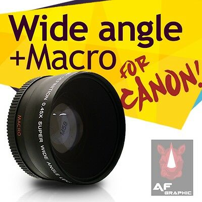 Z62 0.45X Wide Angle and Macro Lens 58mm for Canon Powershot G1 x G1x Camera