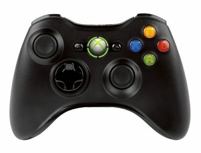 Official Microsoft Xbox 360 Glossy Black Wireless Controller UDAC NSF-00001