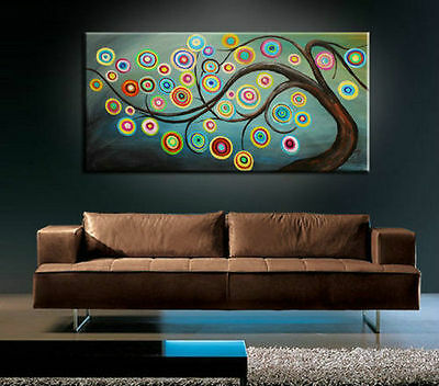 Beautiful Tree Modern Abstract Huge Large Canvas Art Oil Painting Wall Art Decor