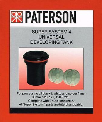 Paterson Super System 4 Universal Developing Tank With 2  x 35mm Reels : PTP 115