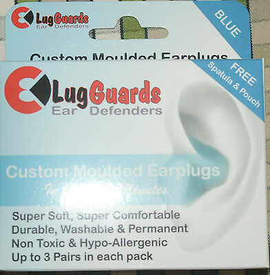Lug Guards Mould Your Own MYO Earplugs Spatular 3 pair Blue  DJ Music Musician
