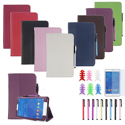 Leather Case Stand Cover For Samsung Galaxy Tab 3 7Inch Tablet SM-T110 Hoc