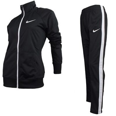 NIKE RAGLAN WARM UP schwarz weiß Damen Trainingsanzug Suit Jogging Fitness NEU