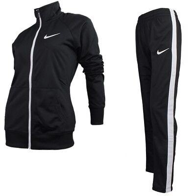 Nike RAGLAN WARM UP schwarz weiß Damen Trainingsanzug Suit Jogging Fitness NEU
