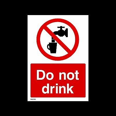 Do not Drink - Plastic Sign, Sticker - All Sizes - MISC133
