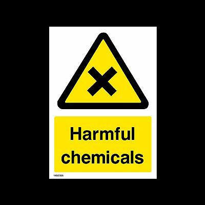 Harmful Chemicals - Plastic Sign, Sticker - All Sizes - MISC138