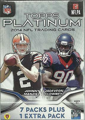 2014 Topps PLATINUM Football Cards New Value Box Rookie Relic (Target) = 32 Card