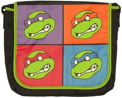 b57a024a7e Teenage Muntant Ninja Turtles Faces Messanger Bag New From Hot Topic Rare  2009