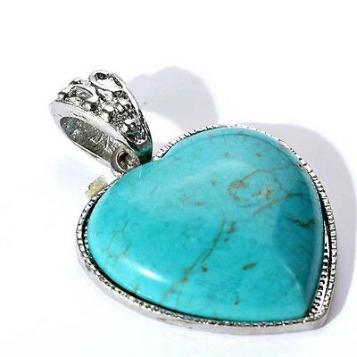 Hot Sale Peach Heart Turquoise Tibet Sliver Pendant  fashion New Vintage style