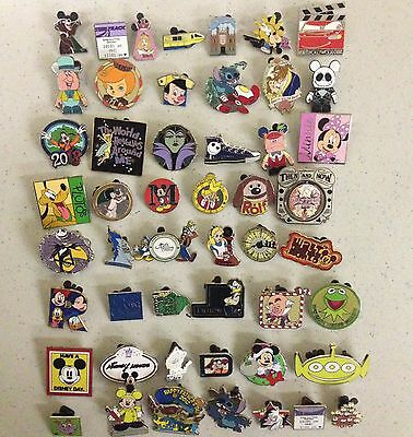 Disney Trading Pin Lot 50, No Duplicates 100% Tradable Grab Bag SMP #.2