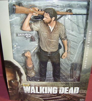 "BRAND NEW MCFARLANE, ""THE WALKING DEAD"", 10 INCH, RICK GRIMES, DELUXE FIGURE"