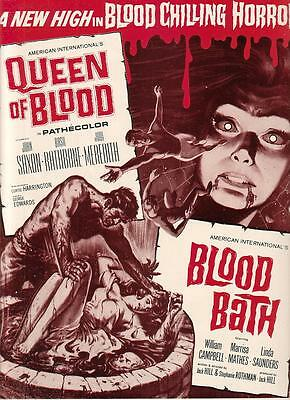 Vincent Price Basil Rathbone Queen of Blood/William Campbell Blood Bath 1966 Ad