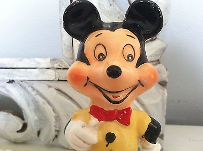 Vintage 1960 Mickey Mouse Disney Character Hand Painted Figure U.S Pat. Japan