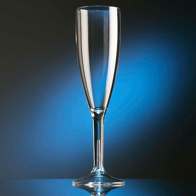 12 Flûtes à champagne incassables en polycarbonate transparent, 18,7 cl