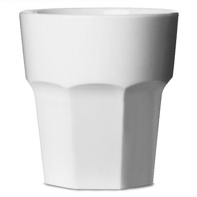 12 Verres multi-usages incassables en polycarbonate blanc, 25,6 cl