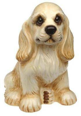 FREE SHIP RETIRED BIG SKY CARVERS BEARFOOTS COCKER SPANIEL PUPPY CERAMIC BANK